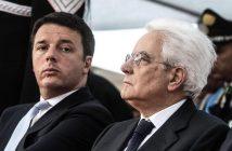 Il presidente del consiglio Matteo Renzi con Sergio Mattarella