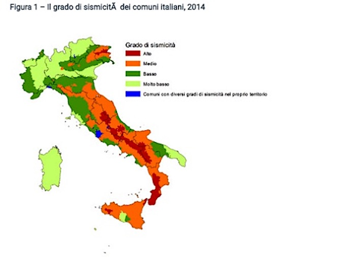 Cartina Italia Rischio Sismico.L Italia Divisa In 3 Zone A Rischio Sismico Alto Medio Basso Calabria Nelle Prime Due Sicilia Nella Seconda L Eco Del Sud