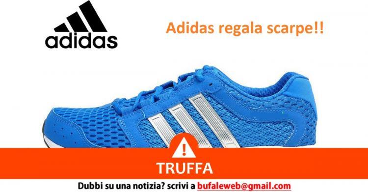 Truffa via WhatsApp: Adidas regala scarpe e magliette per il